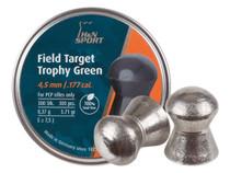 H&N Field Target Trophy Green .177 Cal, Lead-Free, 5.56 Grains, Domed, 300ct