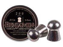 Benjamin .25 Cal, 27.8 Grains, Domed, 200ct