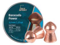 H&N Baracuda Power, .22 Cal, 21.14 Grains, Round Nose, 200ct