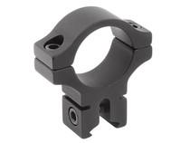 "BKL Single 1"" Ring, 3/8"" or 11mm Dovetail, 0.60"" Long, Medium, Black"