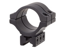 """BKL Single 30mm Double Strap Ring, 3/8"""" or 11mm Dovetail, 1.263"""" Long, Low, Black"""