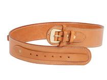 "Gun Belt, 30-34"" Waist, .38-Cal Loops, 2.5"" Wide, Natural Leather"