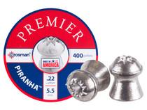 Crosman Premier Piranha .22 Cal, 14.39 Grains, Hollowpoint, 400ct