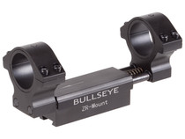 "Bullseye ZR 1-Pc Mount, Fits 1"" and 30mm tubes, 11mm Dovetail, 0.04"" Droop Compensation, Recoil Compensation"
