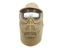 Bravo Airsoft Full Face Mask with Poly Lens in Tan