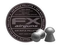 FX Air Rifle Pellets .22 Cal, 15.89 Grains, Domed, 500ct., 5.52mm