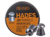 JSB Match Diabolo Hades .22 Cal, 15.89 Grain, Hollowpoint, 250 Count