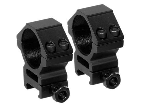 Leapers 30mm Rings, Medium, Weaver Mount, See-Thru