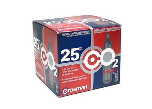 Crosman 12 Gram CO2, 25 Cartridges