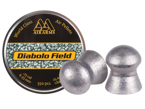 Air Arms Field .25 Cal, 25.4 Grains, Domed, 350ct