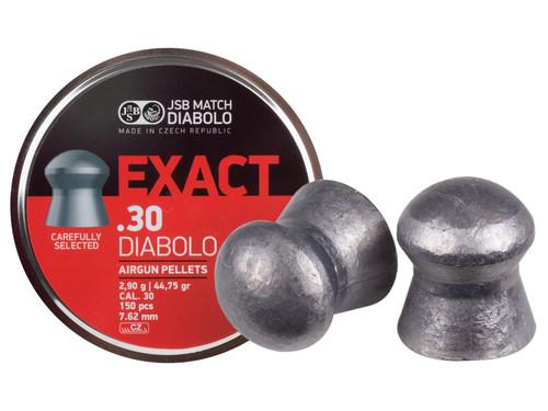 JSB Diabolo Exact Pellets, .30 Cal, 44.75 Grains, Domed, 150ct