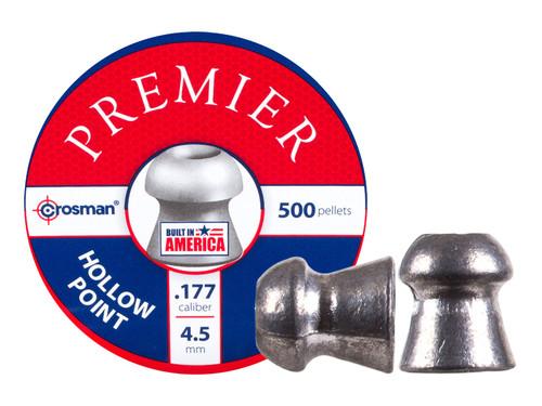 Crosman Premier .177 Cal, 7.9 Grains, Hollowpoint, 500ct