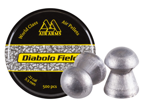 Air Arms Diabolo Field .22 Cal, 5.51mm, 16 Grains, Domed, 500ct