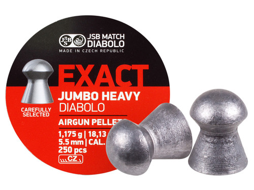 JSB Match Diabolo Exact Jumbo Heavy .22 Cal, 18.13 Grains, Domed, 250ct