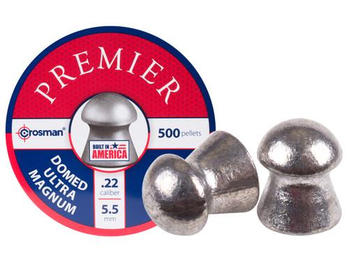 Crosman Premier .22 Cal, 14.3 Grains, Domed, 500ct