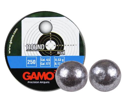 Gamo .177 Cal, 8.2 Grains, Round Lead Balls, 250ct