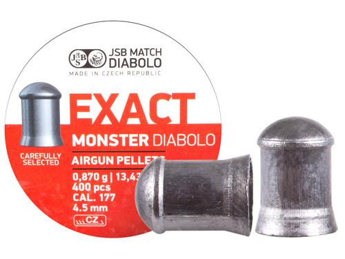 JSB Exact Monster .177 Cal, 13.4 Grains, Cylindrical, 400ct