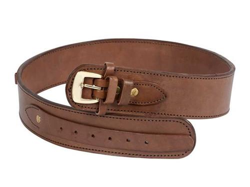 "Gun Belt, 48-52"" Waist, .38-Cal Loops, 2.5"" Wide, Chocolate Leather"