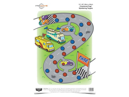 "Birchwood Casey Pregame Checkered Flag Target, 12""x18"", 8ct"