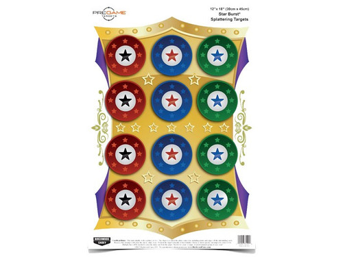 "Birchwood Casey Pregame Star Burst Target, 12""x18"", 8ct"