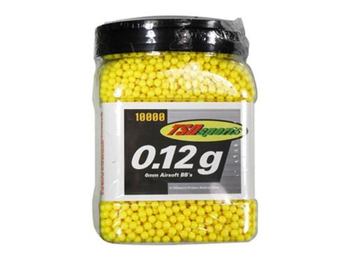 TSD Sports 6mm Plastic Airsoft BBs, 0.12g, 10,000 rds, Yellow