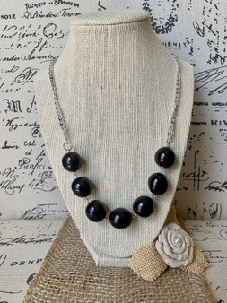 GT Bubblegum Beads & Silver Chain Tagua Necklace