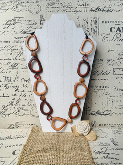 GT Long Donut Bead Tagua Necklace