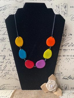 GT Simple Six Bead Tagua Necklace