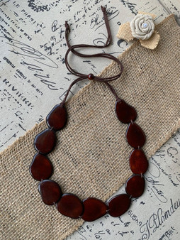 GT Single Layer Tagua Necklace