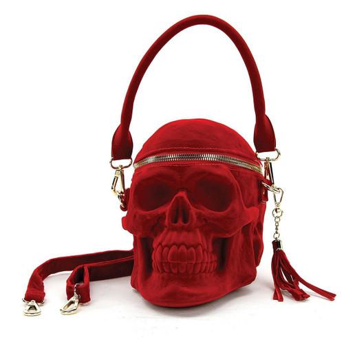 Red Velvet SKULL Bag