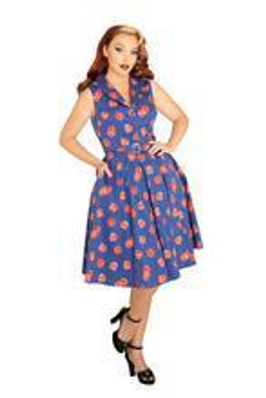 Pomegranate Retro Dress