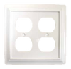 64618 White Architect Double Duplex Cover Plate