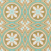 Joel Dewberry PWJD144 Modernist Tolson Turquoise Cotton Quilting Fabric By Yard