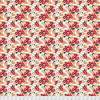 Coats PWCC009 Daisy Daze Gerbera Red Cotton Quilting Fabric By Yd