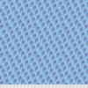 Corinne Haig PWCH014 Peacock Paradise Feathered Indigo Cotton Fabric By Yd