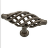 """Liberty 65112RB Oil Rubbed Bronze 3 3/8"""" Birdcage Cabinet Drawer Knob Pull"""