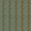 Henry Glass 2053-76 Pumpkin Farm Oak Leaf Stripe Teal Cotton Fabric By Yard