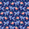 Henry Glass 1325-77 Windsor Park Roses Navy Cotton Quilting Fabric By Yard