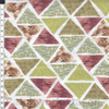 Stof Fabrics Murano Collection Triangles Purple & Green Cotton Fabric By The Yard