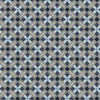 Stof Fabrics Bubble Grid Collection Diamond Blue Cotton Fabric By The Yard
