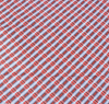 African Print Tweed Print Red & Blue Traditional Wax Print Cotton Fabric By The Yard