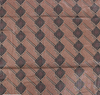 African Print Diamonds & Rectangles Brown / Black Traditional Wax Print Cotton Fabric By The Yard