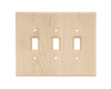 Franklin Brass W10395-UN Unfinished Wood Triple Switch Wall Plate Cover