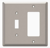 Style Selections W45069-SN Satin Nickel Simple Square Switch / GFCI Wall Plate Cover