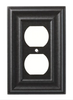 Hampton Bay W36421-SI Furrowed Single Duplex Wall Plate Cover