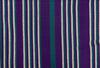 "African Faso Dan Fani Handmade Woven Purple Stripe Cotton Fabric 12"" x 6 Yard"