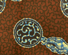 African Traditional Wax Print 27054 Rust Cotton Fabric By The Yard