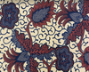 African Traditional Wax Print 27059 Floral Lt Gold Cotton Fabric By The Yard