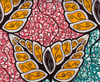African Traditional Wax Print 27061 Multi Color Cotton Fabric By The Yard