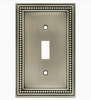 Brainerd 64208 Architect Satin Nickel Double Switch Wall Plate Cover